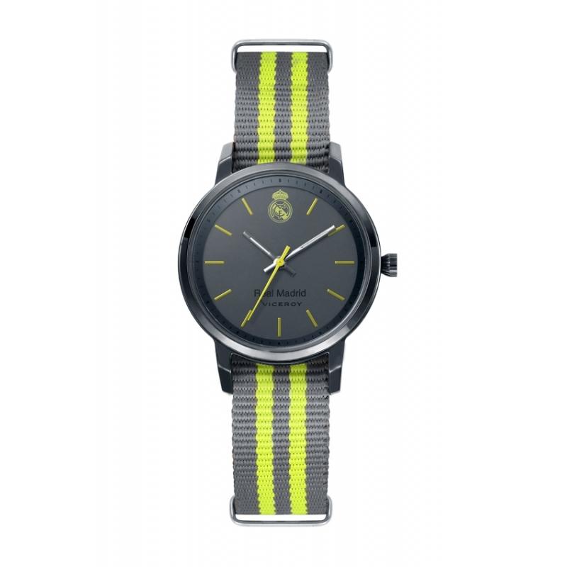 Reloj Viceroy del Real Madrid para mujer o cadete, gris y verde con correa de nylon 40966-17