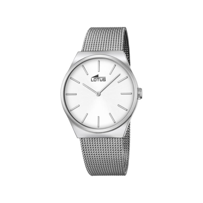 """Reloj Lotus de hombre """"Smart Casual"""" de acero, con malla y estilo vintage 18285/1"""