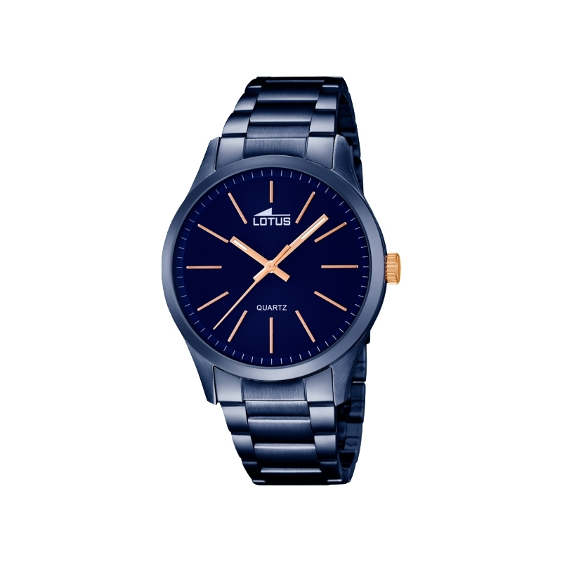 """Reloj Lotus de hombre """"Smart Casual"""" de acero chapado en azul y detalles dorados 18163/2"""