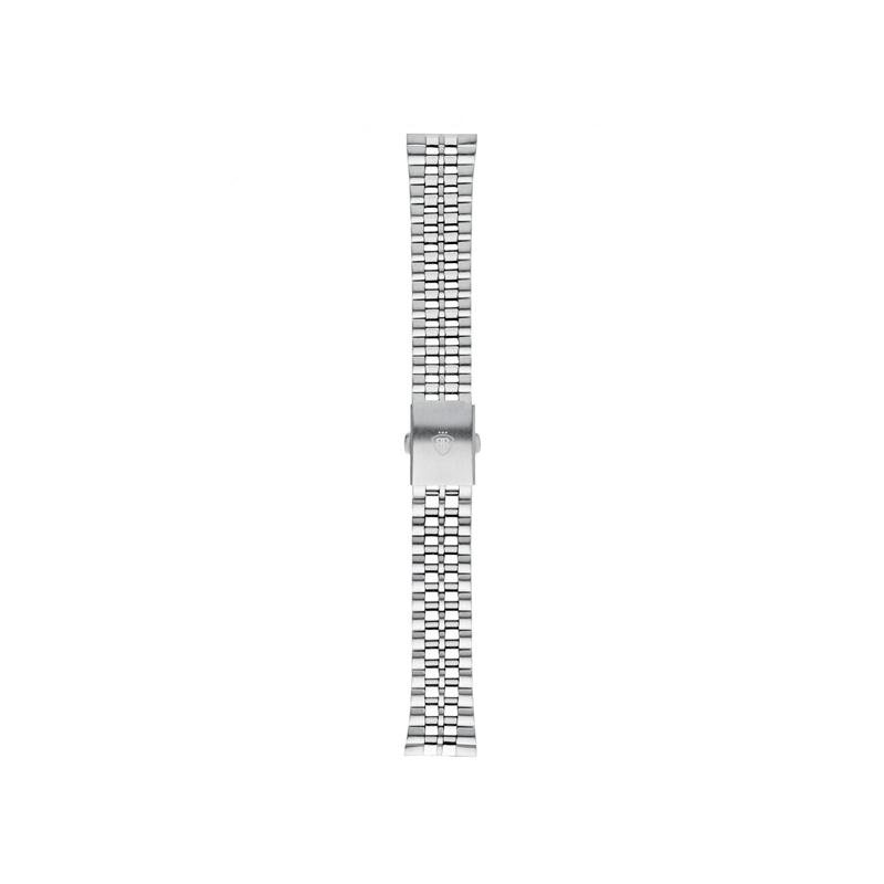 """Brazalete en acero para relojes Balber """"Metal Silver""""."""