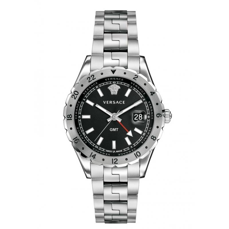 """Reloj Versace """"Hellenyium"""" de mujer en acero y esfera negra V1102 0015"""