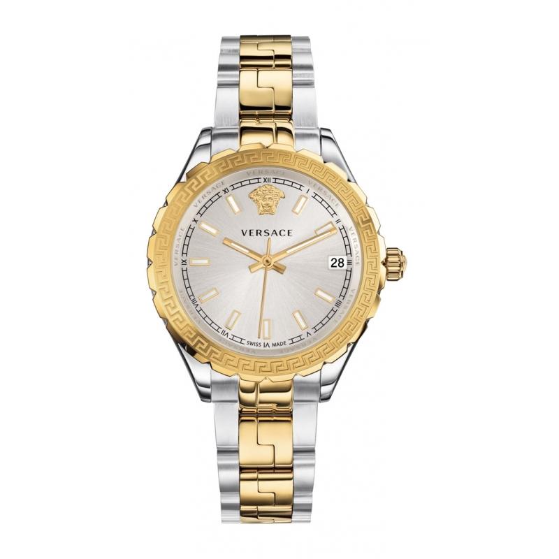 """Reloj Versace """"Hellenyium"""" de mujer en acero parcialmente dorado V1203 0015"""