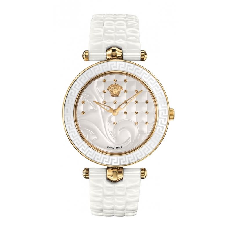 Reloj Versace Vanitas de mujer en cerámica blanca y dorado VAO03 0016