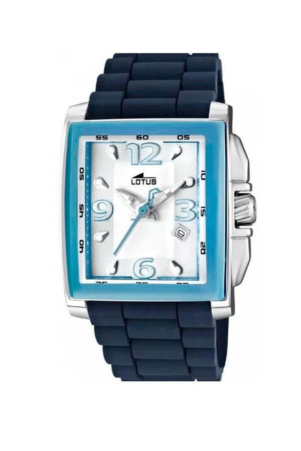 2a5a6a6cb809 Reloj Lotus de mujer rectangular con correa de silicona azul 15750 5