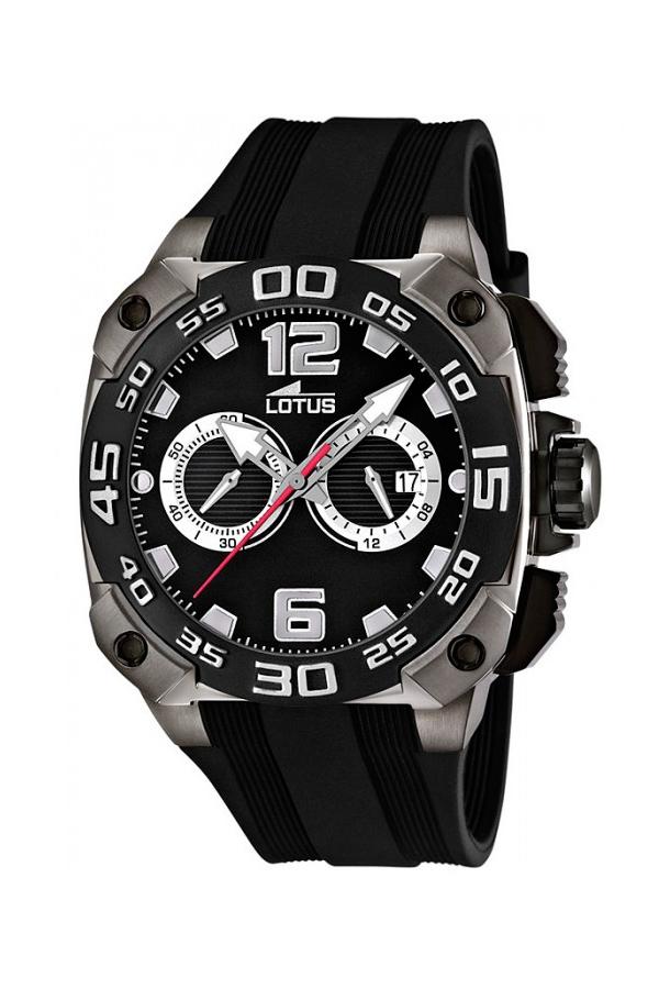 467bf43419fa Reloj Lotus de hombre deportivo cronógrafo en negro