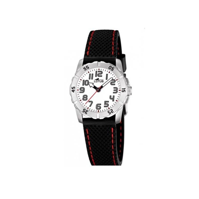 """Reloj Lotus para niño o cadete """"Junior"""" con correa de caucho negra 15764/1"""