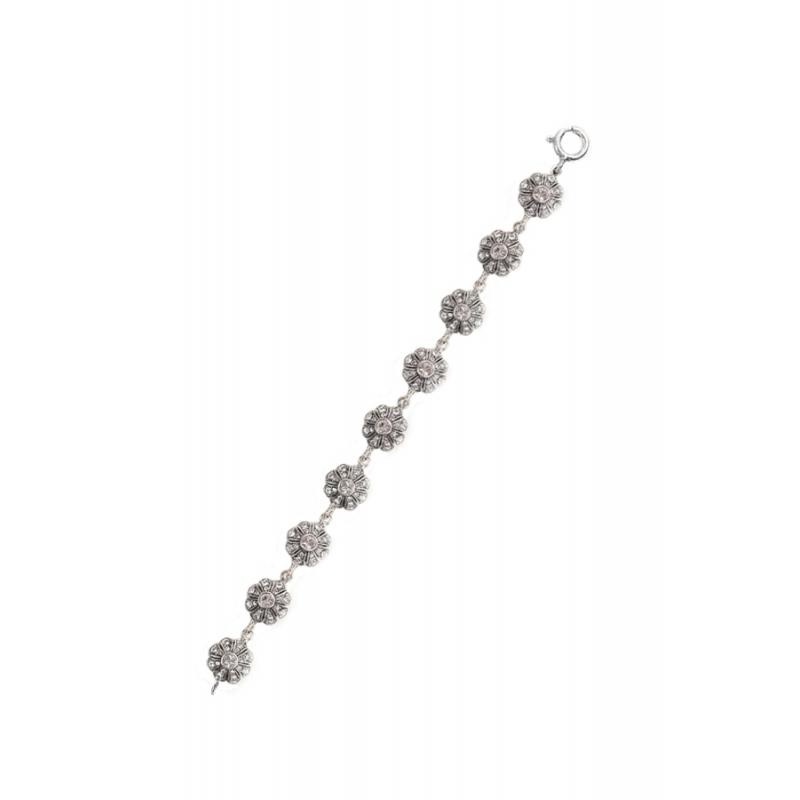 Pulsera de plata envejecida con piedras Swarovski®, para eventos, de Antara.