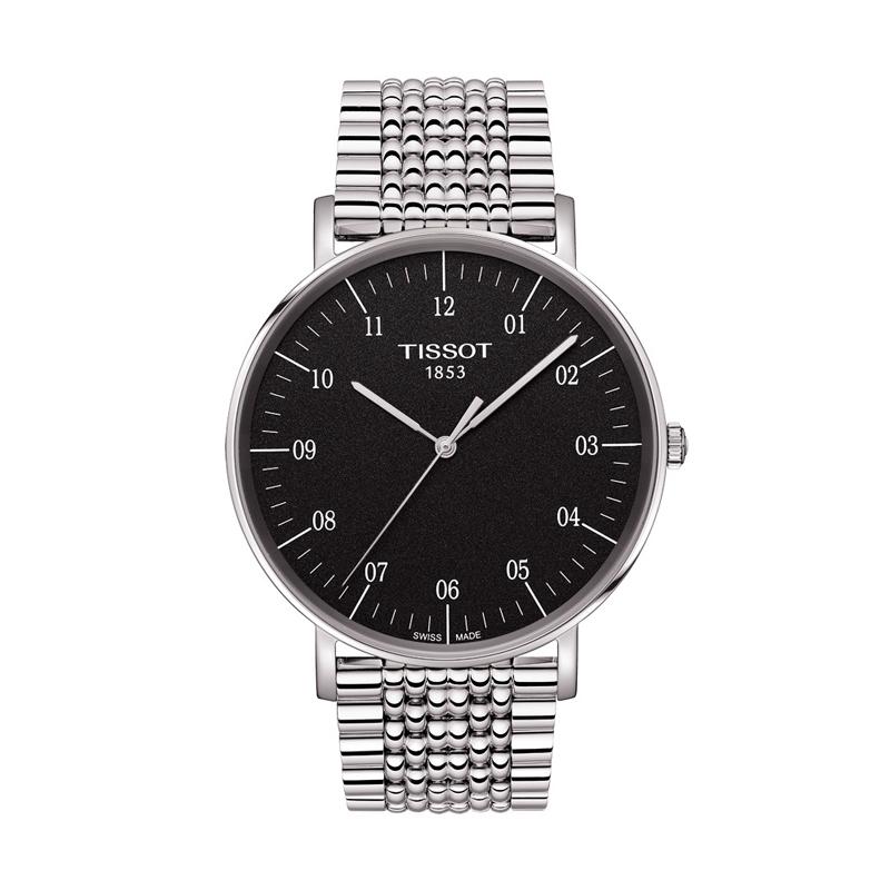 """Reloj Tissot para hombre """"Everytime Big"""" en acero de estilo clásico T1096101107700."""