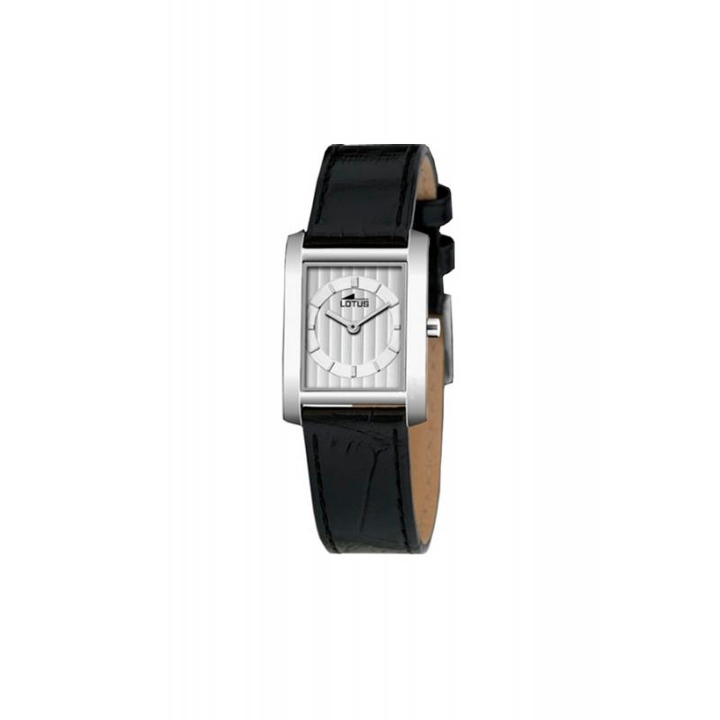 Reloj Lotus de mujer clásico con correa de piel negra 9946/1