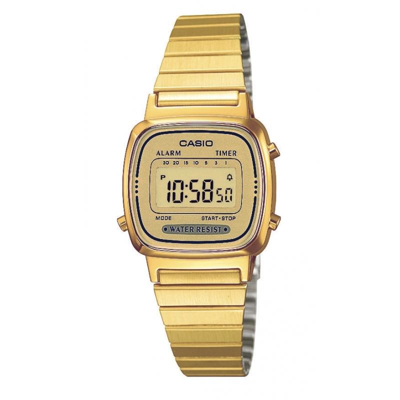 63be71ec24ad Reloj Casio Retro Collection de mujer dorado pequeño LA670WEGA-9EF.