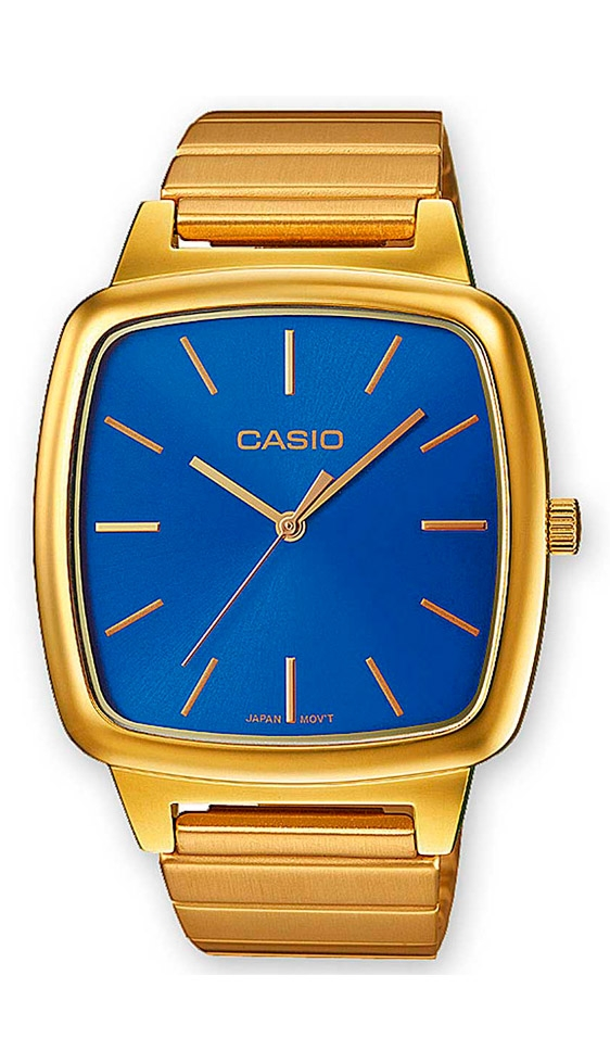 85471329c787 Reloj Casio de hombre Retro Collection dorado y esfera azul LTP-E117G-2AEF.