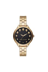"""Reloj Marc Jacobs de mujer """"Betty"""" dorado en oro amarillo con esfera oscura MJ3494."""