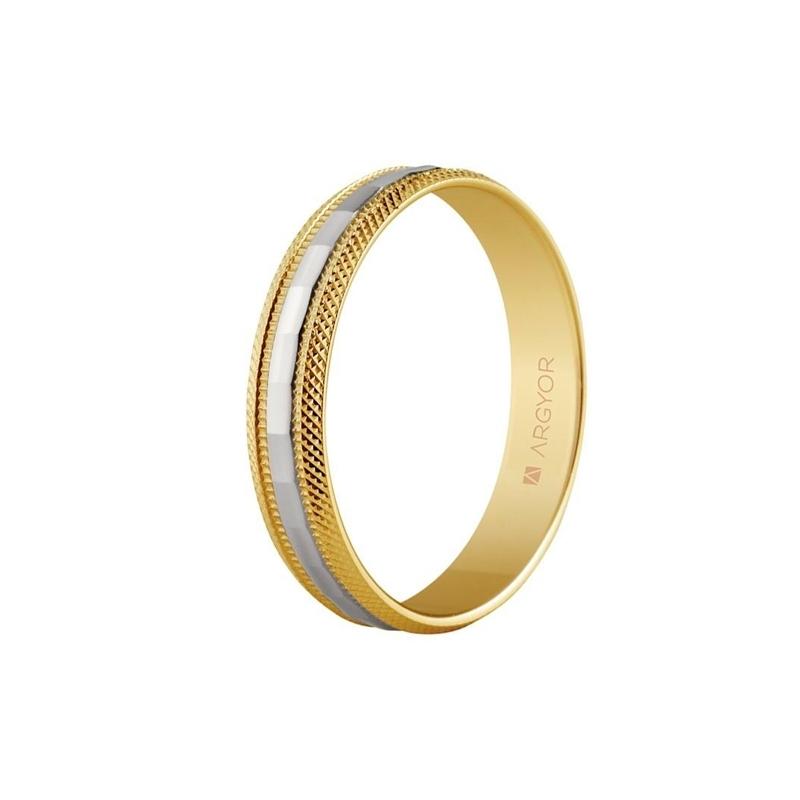 f83df751168d Alianza de oro bicolor de 18 quilates