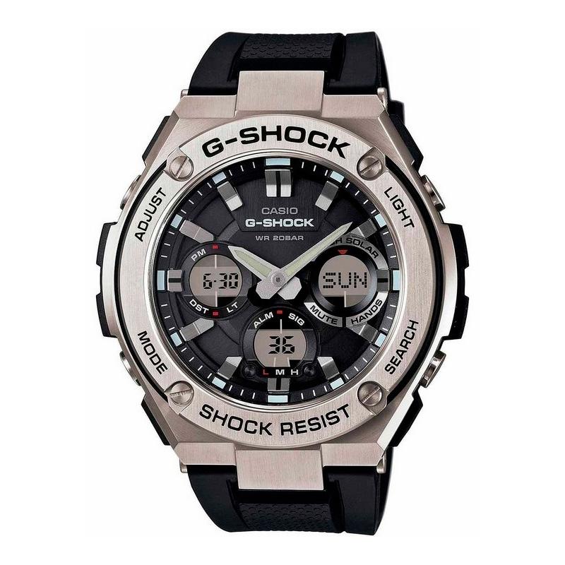 Reloj Casio G-Shock Classic Tough Solar con caja acero y correa silicona negra GST-W110-1AER.
