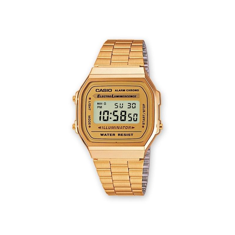 Reloj Casio Retro Collection dorado en oro amarillo A168WG-9EF.