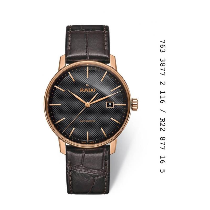 """Reloj Rado automático """"Coupole Classic"""" de hombre, de estilo clásico R22877165."""