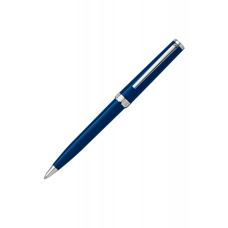 """Boligrafo Montblanc """"Pix Blue"""" en azul y detalles plateados 114810."""
