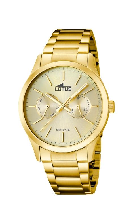8c3a301d17c6 Reloj Lotus de hombre en acero dorado en oro amarillo