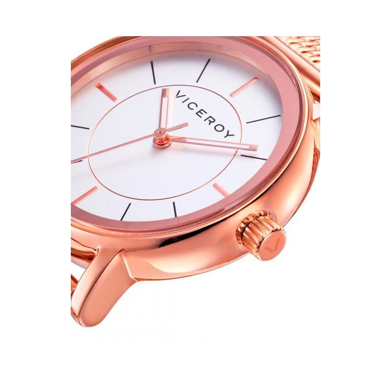 ddb4e407d6bd Reloj Viceroy de mujer en acero dorado en oro rosado