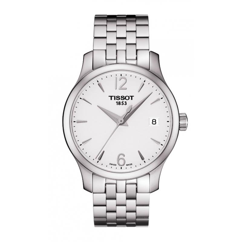 """Reloj Tissot de mujer """"Tradiction"""" en acero, de estilo clásico, ref. T0632101103700."""