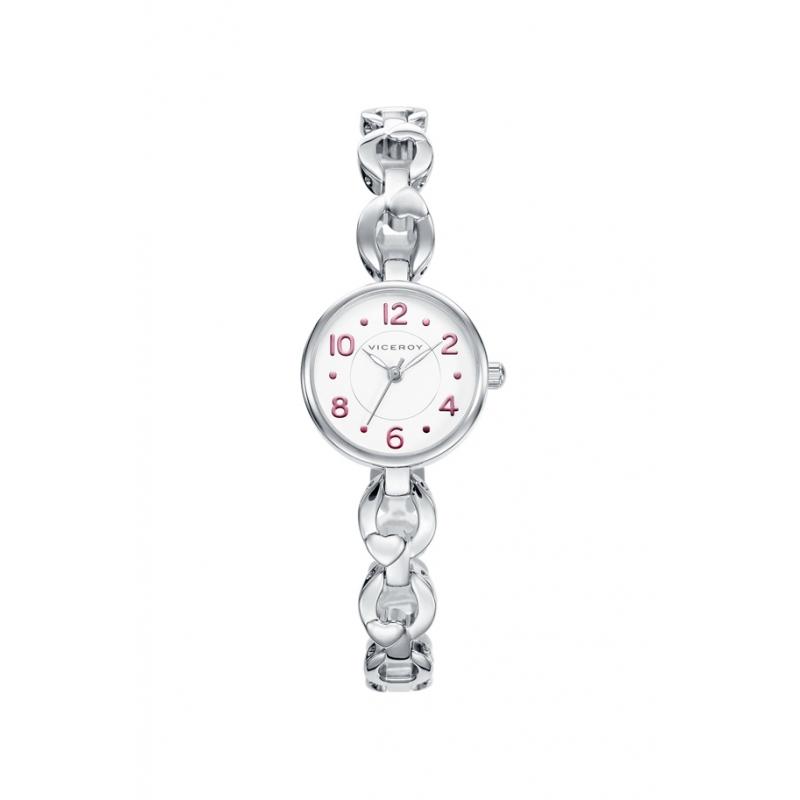 """Reloj Viceroy de niña """"Sweet"""" para comunión, en acero con pendientes, en caja especial 40946-05."""