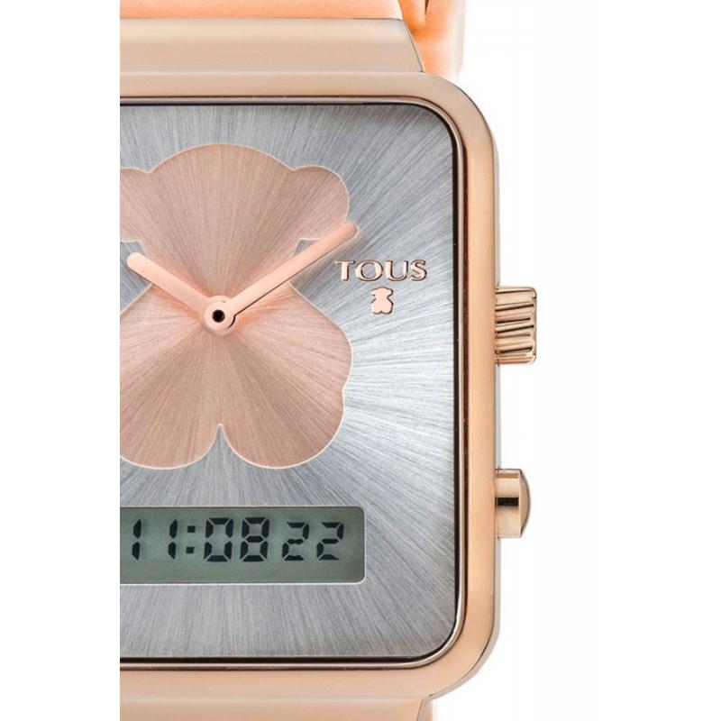 d1780a03c3 Reloj Tous I-Bear digital para mujer, dorado en oro rosé y correa de  silicona 700350140.