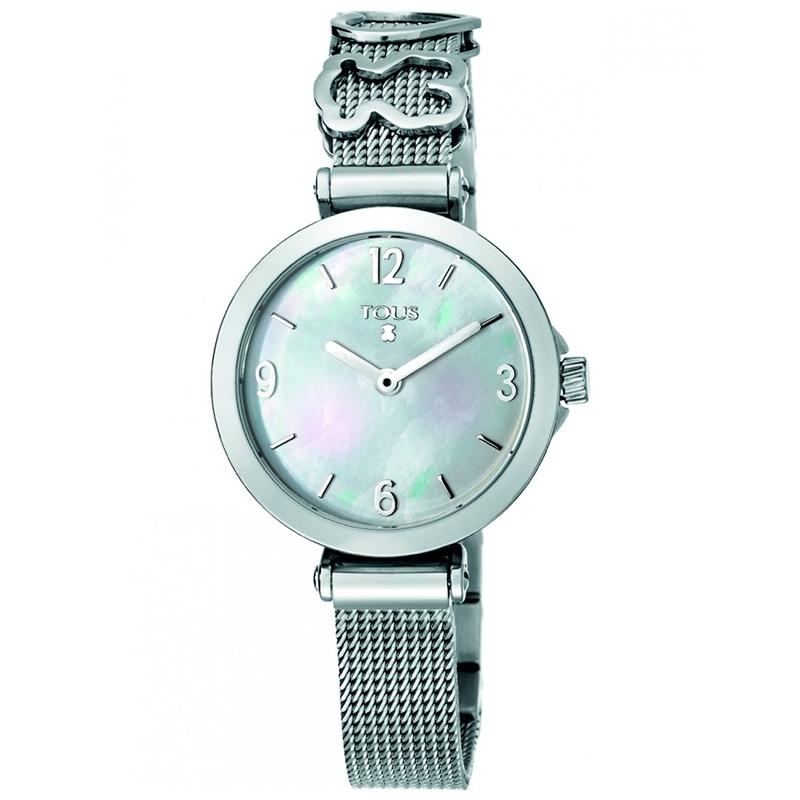 """Reloj Tous """"Icon Charms"""" de mujer en acero con esfera de nácar 700350155."""