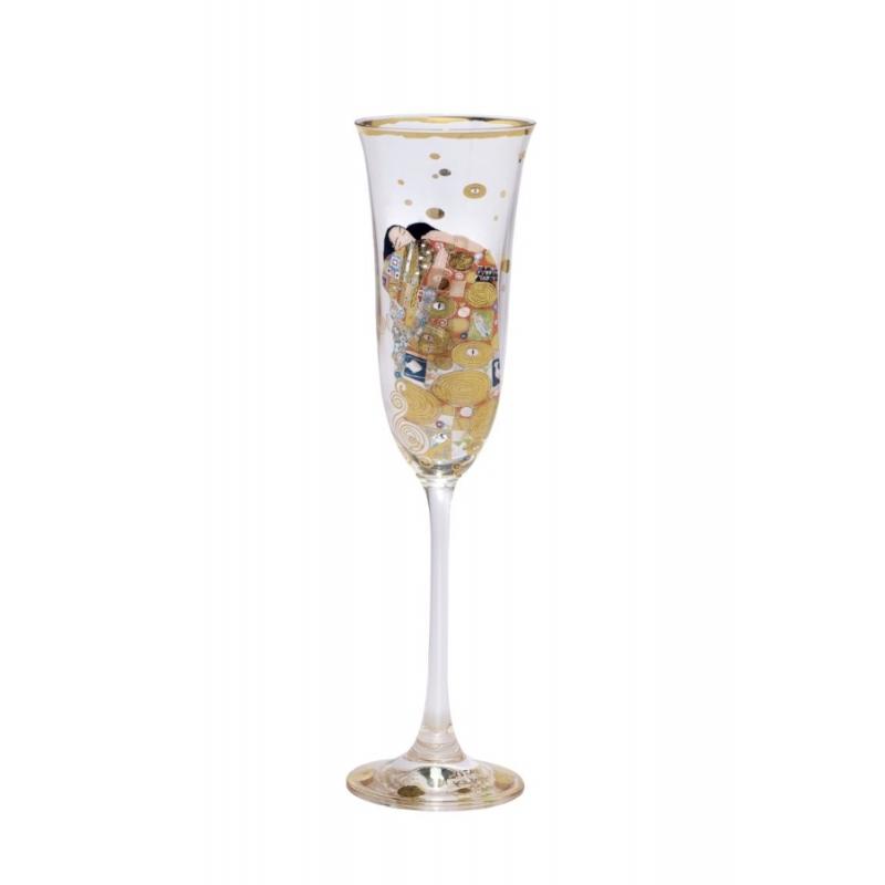 "Copa de champang ""El abrazo"" de Gustav Klimt, Goebel"