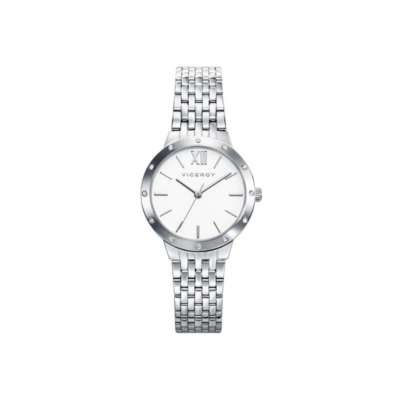 Reloj Viceroy para mujer en acero con circonitas en bisel 40920-03.