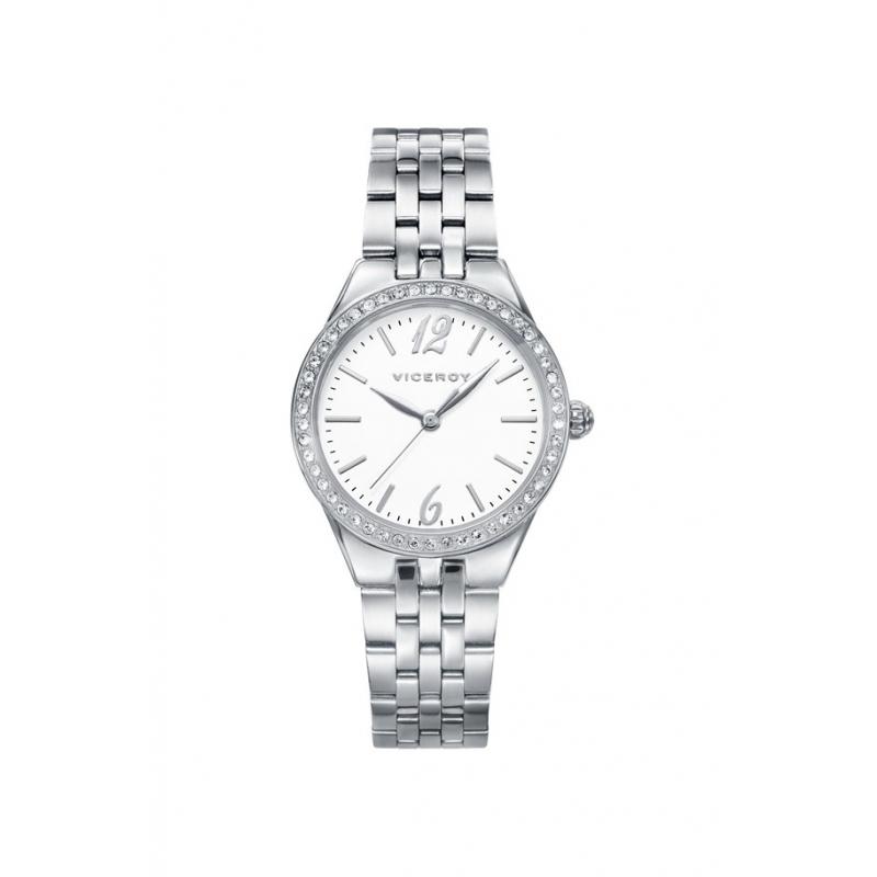 Reloj Viceroy para mujer en acero con circonitas en el bisel 42232-05.