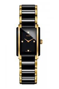 """Reloj Rado para mujer """"Integral"""" en cerámica negro y dorado, con ref. R20845712."""