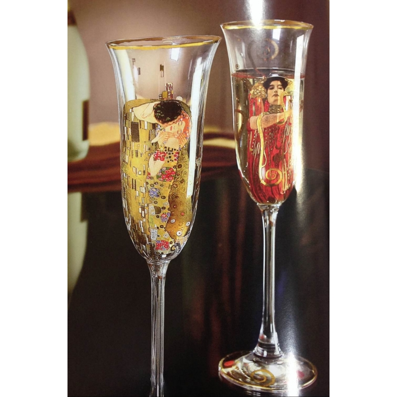 "Copa de champang ""El beso"" de Gustav Klimt, Goebel"