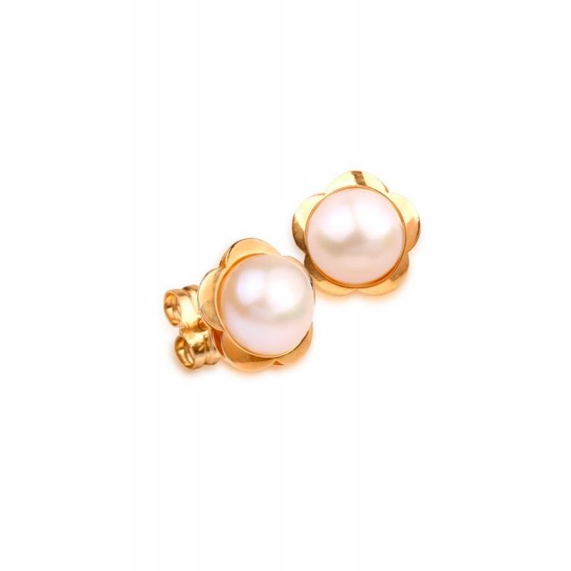 41f5f38cfa64 Pendientes de oro para mujer con perlas cultivadas