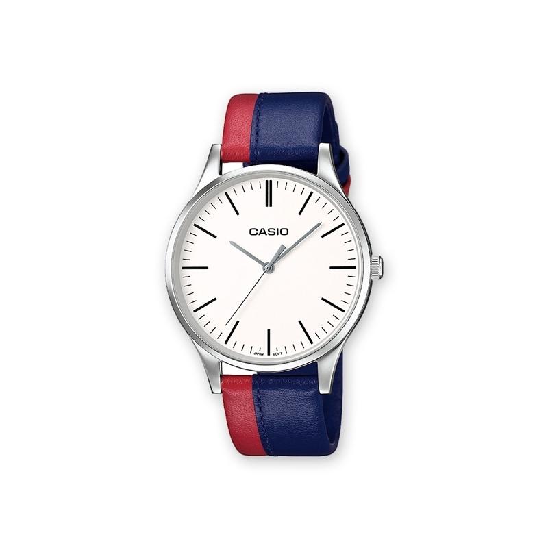 44b9c63f1997 Reloj Casio para hombre con correa de doble color rojo y azul