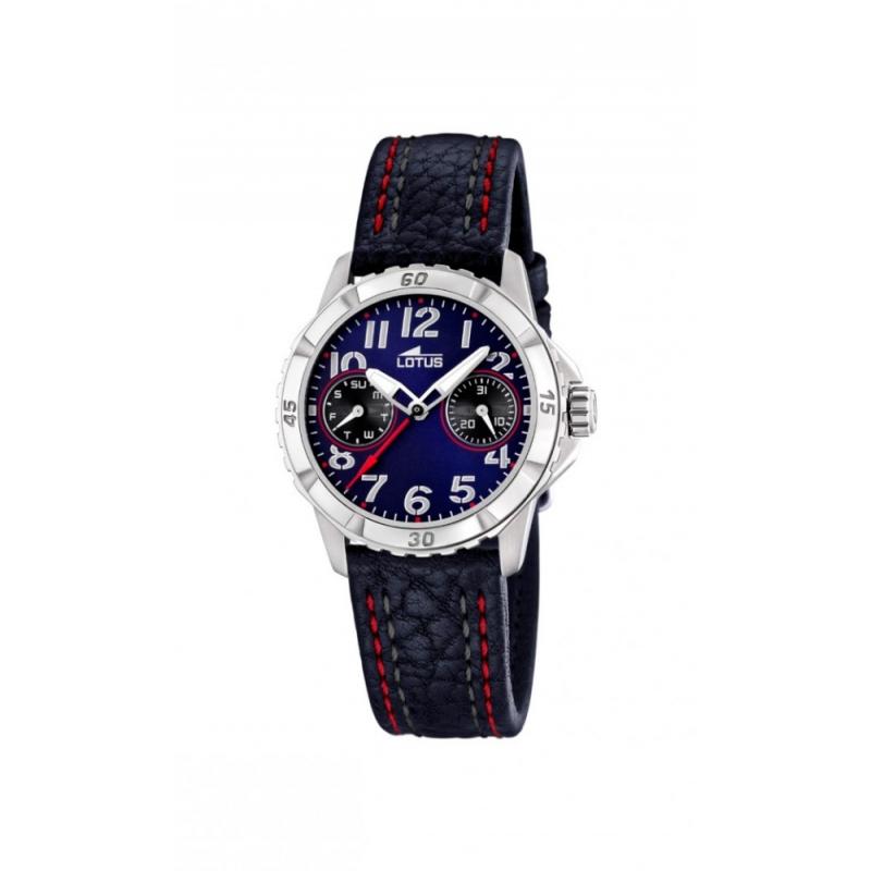 """Reloj Lotus para niño """"Junior"""" multifunción en azul con detalles rojos, ref. 15653/6."""