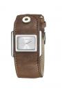 """Reloj Custo """"Vesper"""" en piel marrón CU041603"""