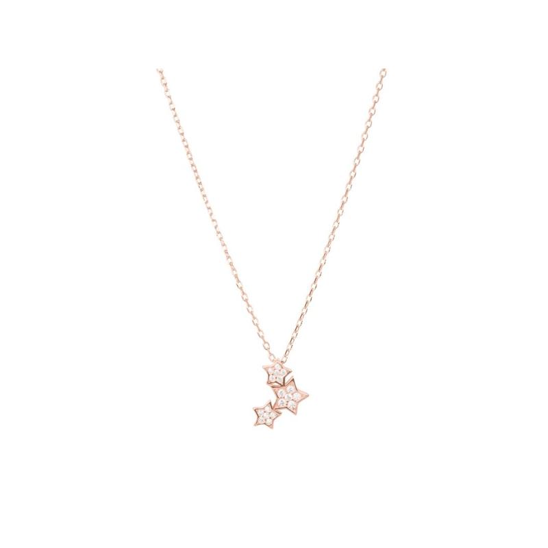 """Colgante con forma de estrella de plata dorada en rosé y circonitas, """"Familia"""" de Luxenter."""