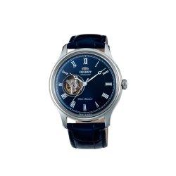 Reloj Orient automático de caballero, con ventana a máquina y esfera azul, AG00004D.