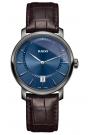 Reloj Rado Diamaster para hombre, con esfera azul, caja gris y correa marrón R14135206.