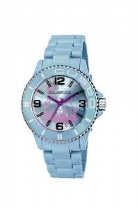 "Reloj Custo ""My Custo Watch"" en resina celeste CU058204."