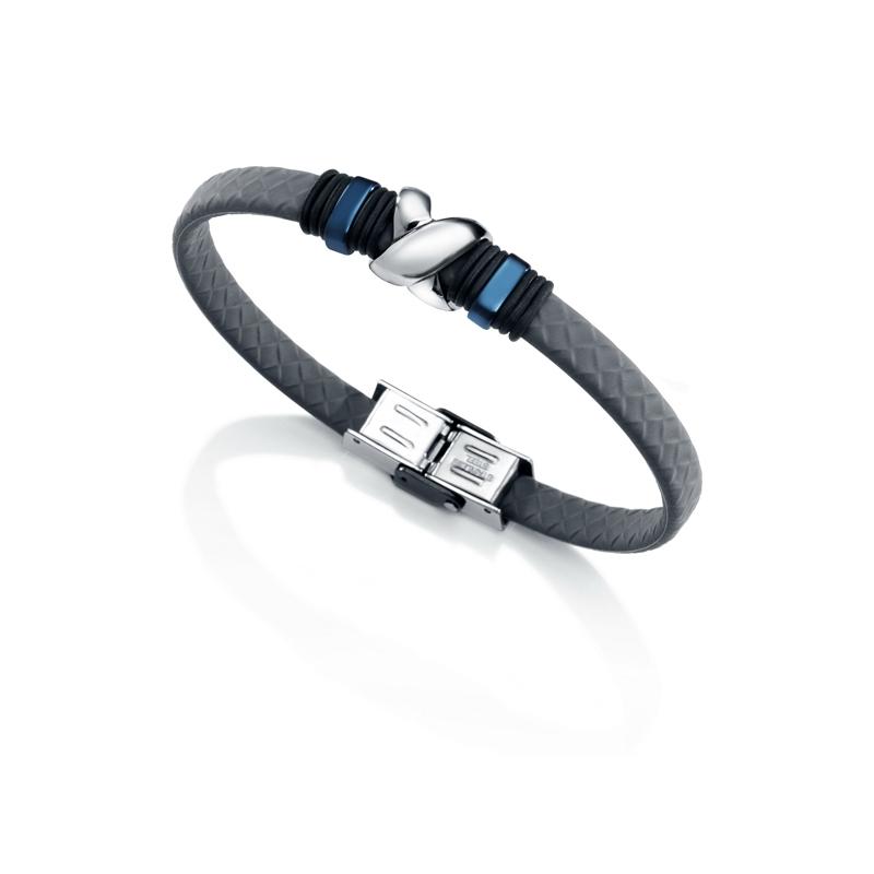 Pulsera Viceroy Antonio Banderas para hombres, en gris con acero y detalles azules y negros, 6435P09000.