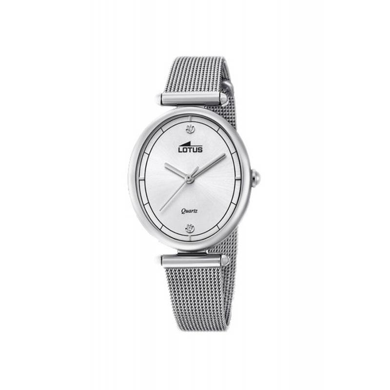 70d17bbb3566 Reloj Lotus de mujer en acero con malla milanesa