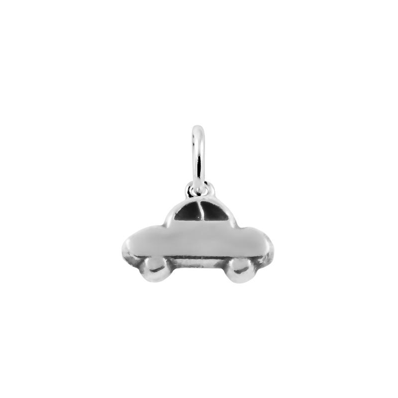 Colgante de plata con forma de coche, de Joyería Hago.