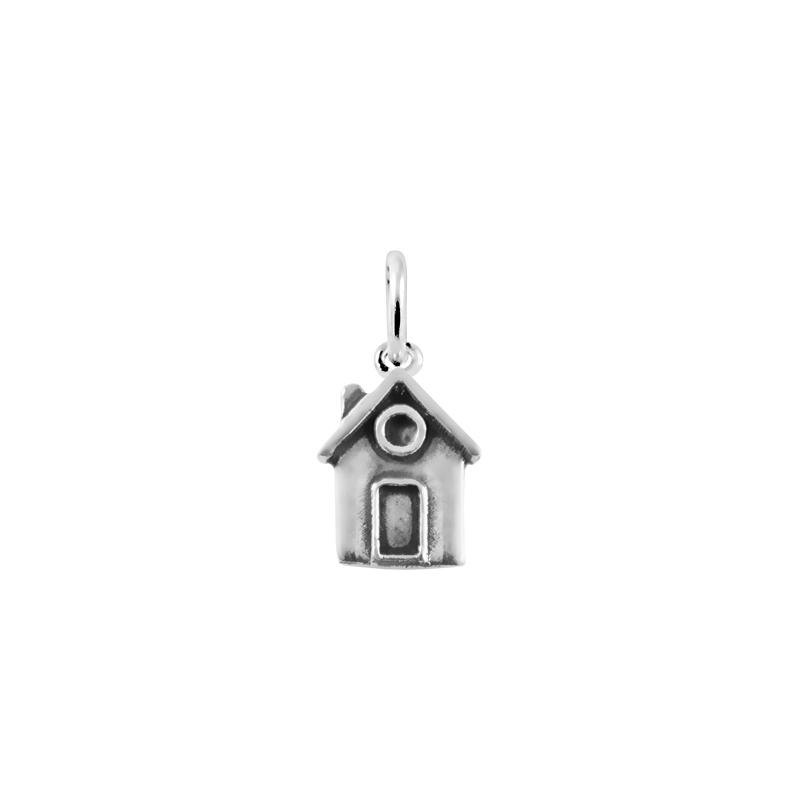 Colgante de plata 750 mm, en forma de casa, de Joyería Hago.