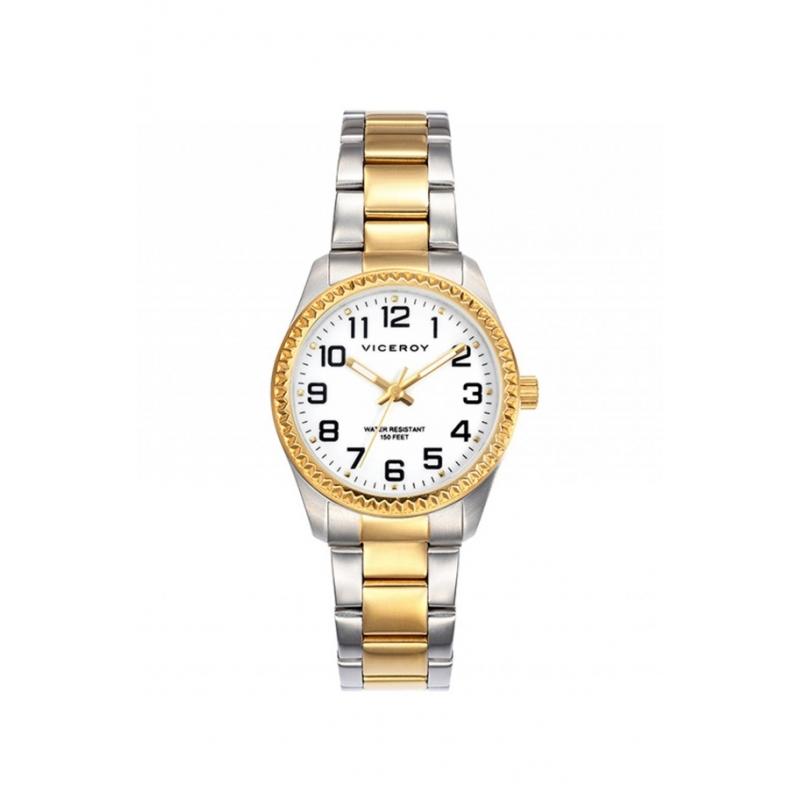 Reloj Viceroy de mujer, en acero bicolor en oro amarillo, ref. 40860-24.