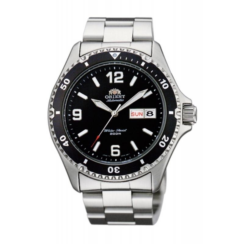 Reloj Orient diver automático para hombre, en acero con esfera negra AA02001B9.