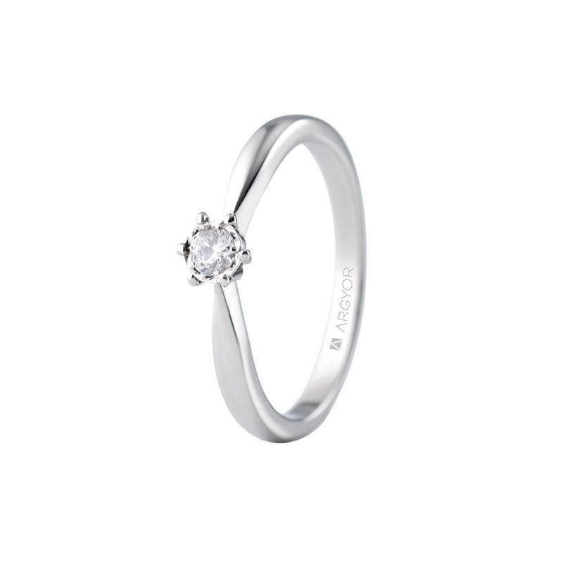e5e687b816cf Solitario de oro blanco con diamante de 0