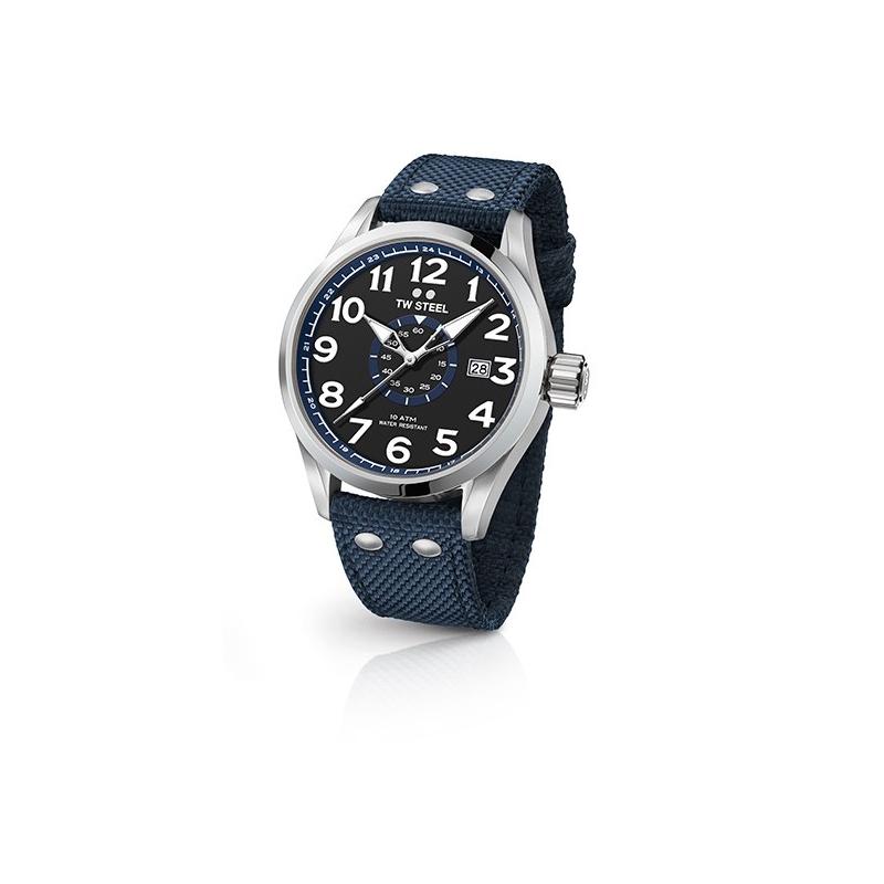 """Reloj Tw Steel """"Volante"""" 45 mm., para hombre con correa azul marina."""