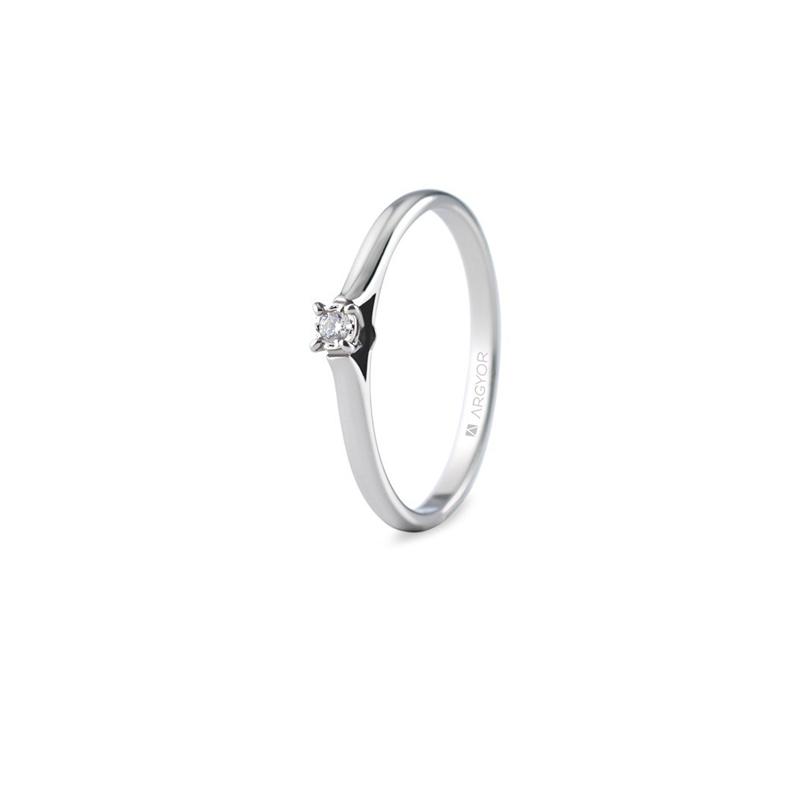 35427193dc7d Solitario de oro blanco con diamante de 0