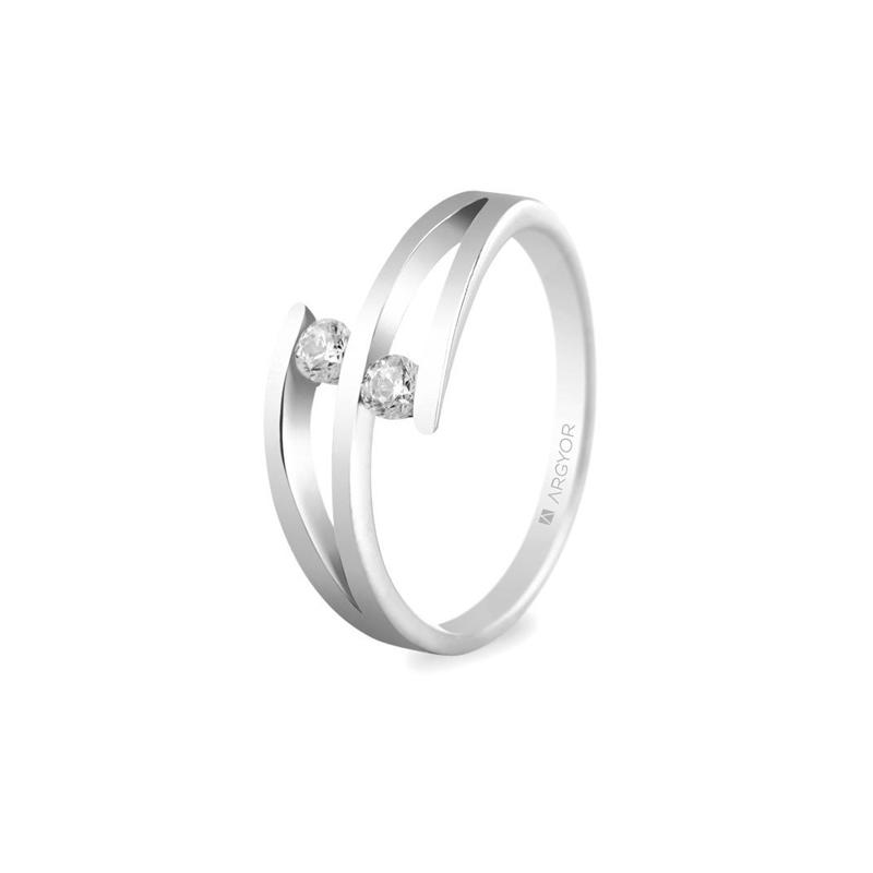 953d721e6c1f Anillo de oro blanco con 2 diamantes